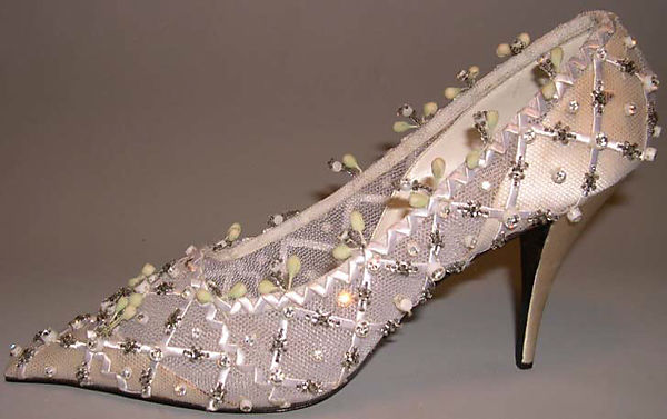 Wedding Shoes House Of Dior French Founded 1947 Silk Nylon