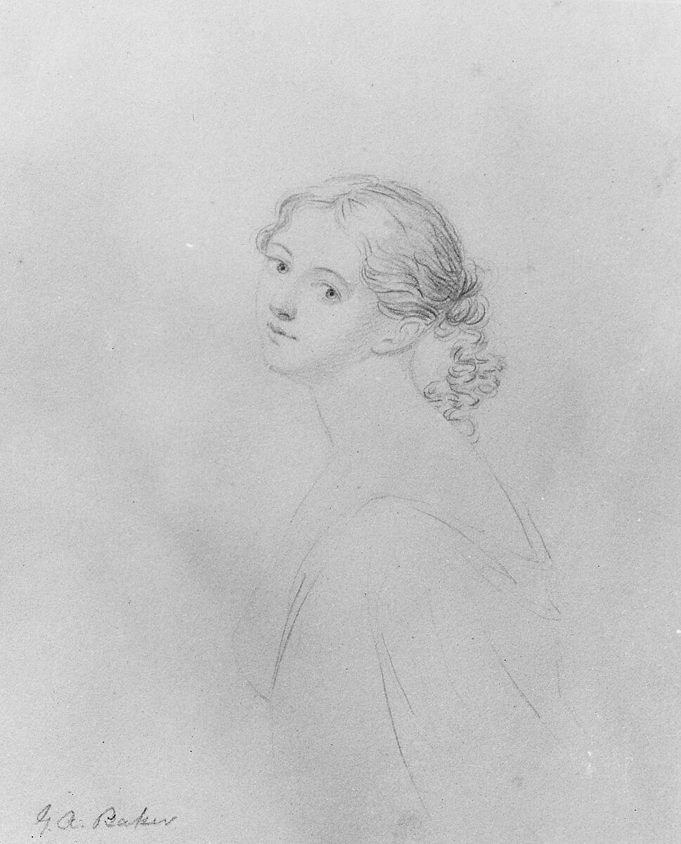 George Augustus Baker Jr. | Head of a Woman (from McGuire Scrapbook) | American | The Met