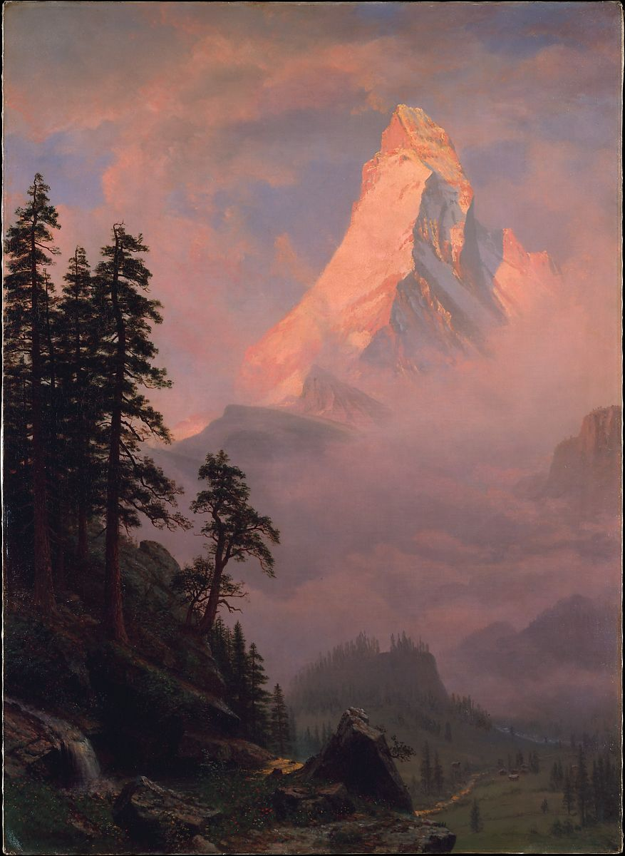 Albert Bierstadt Sunrise On The Matterhorn American