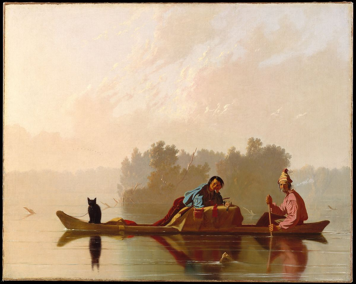 Fur Traders Descending the Missouri, George Caleb Bingham (American, Augusta County, Virginia 1811–1879 Kansas City, Missouri), Oil on canvas, American