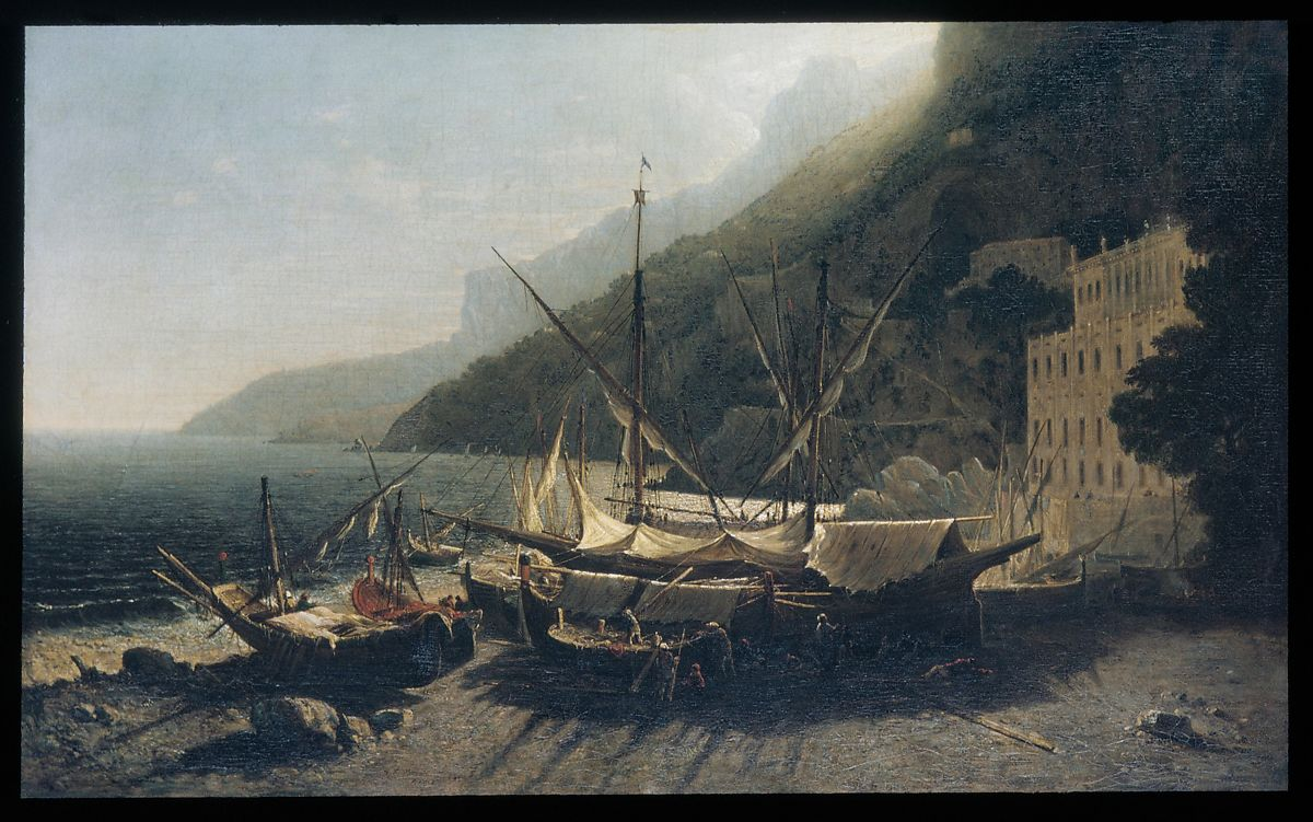 George Loring Brown | View at Amalfi, Bay of Salerno | American | The Met