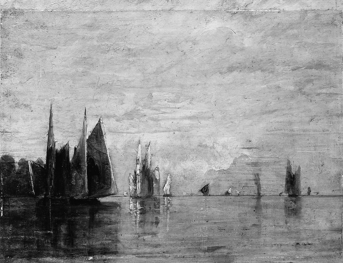 Early Morning—Venice, William Gedney Bunce (1840–1916), Oil on wood, American