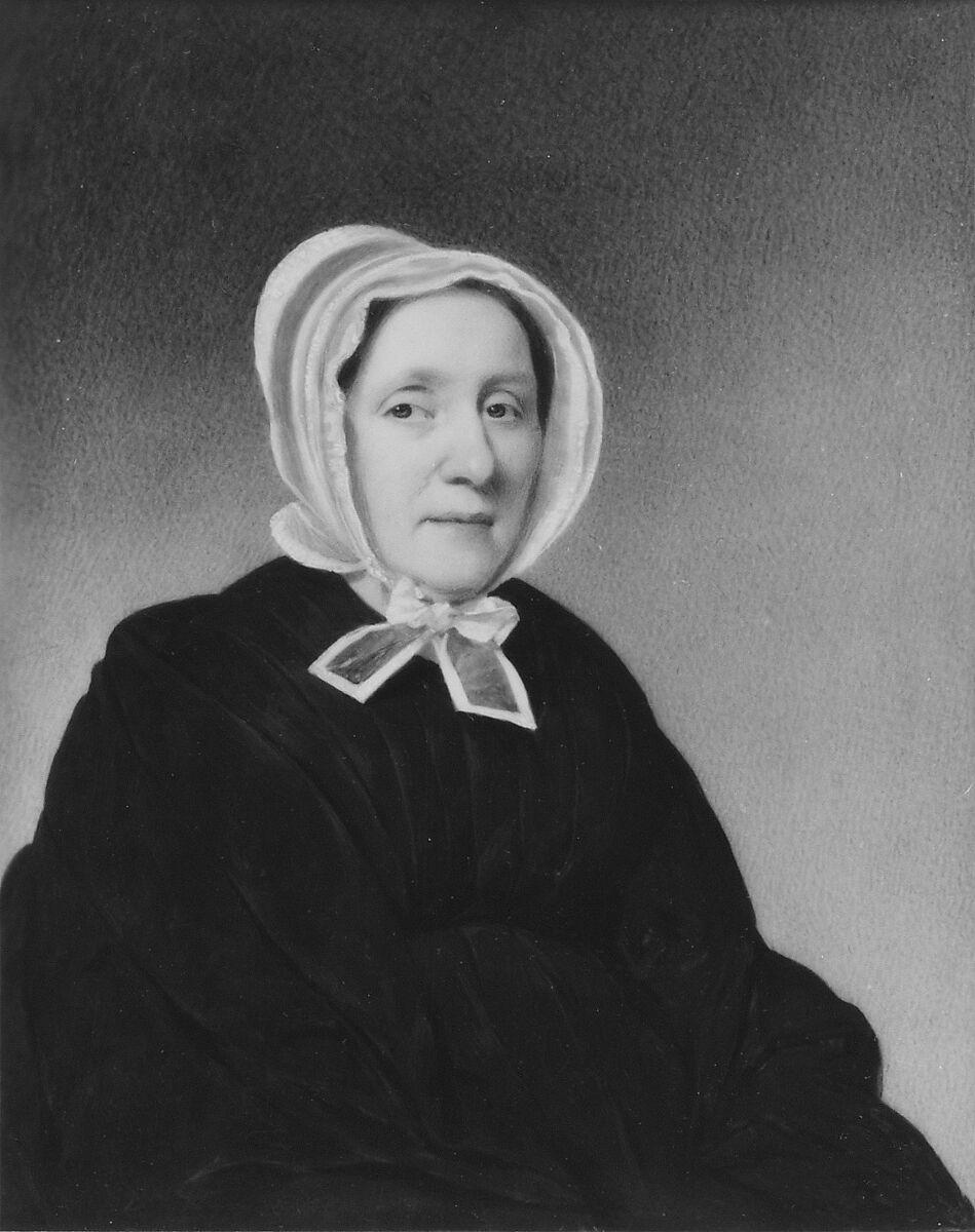 Mrs. Thomas Streatfield Clarkson (Elizabeth Van Horne), Thomas Seir Cummings (American (born England), Bath 1804–1894 Hackensack, New Jersey), Watercolor on ivory, American