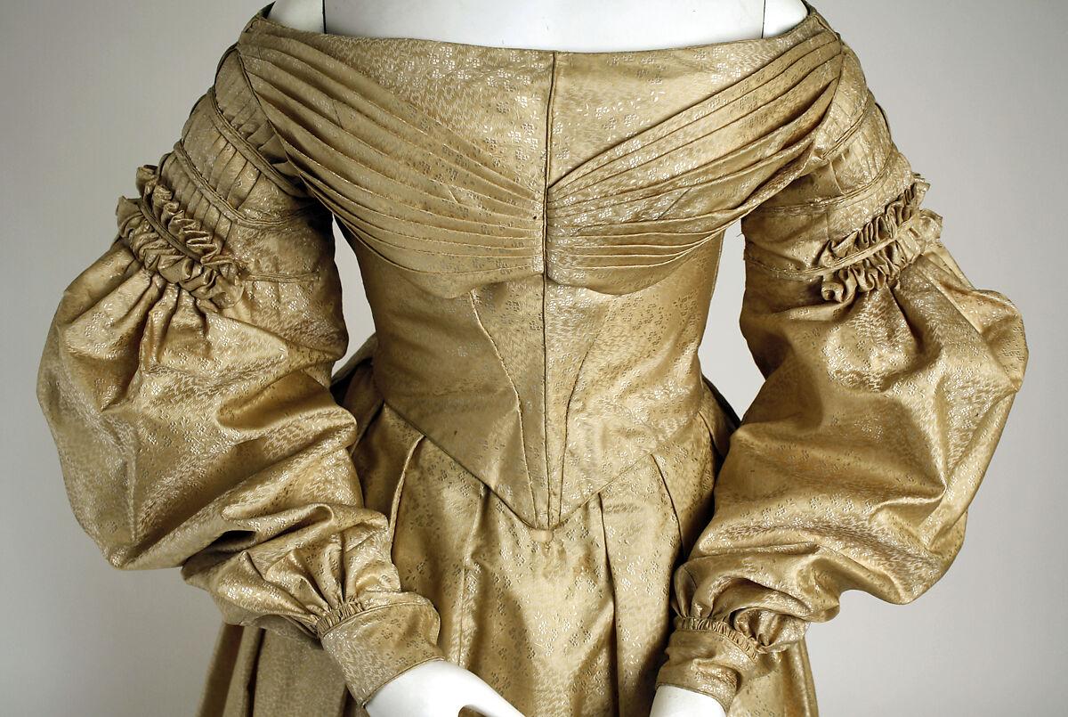 Dress, silk, probably American