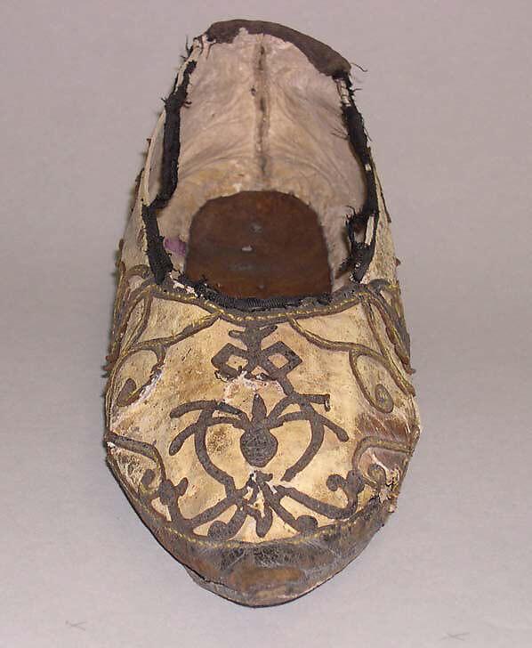 Slippers, leather, Italian