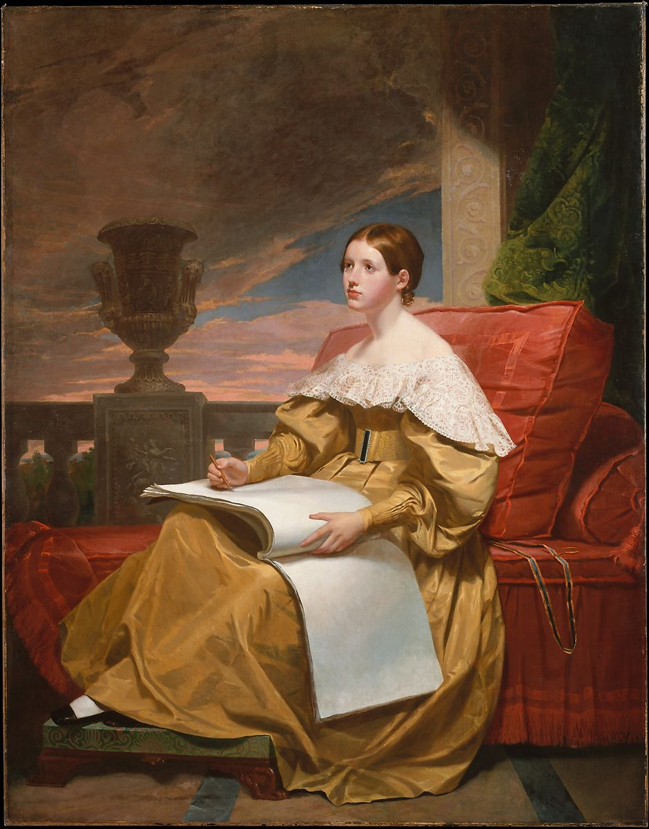 Susan Walker Morse (The Muse), Samuel F. B. Morse (American, Charlestown, Massachusetts 1791–1872 New York), Oil on canvas, American