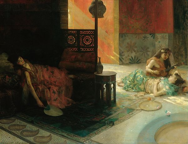 Harem Scene, Henry Siddons Mowbray (1858–1928), Oil on canvas, American