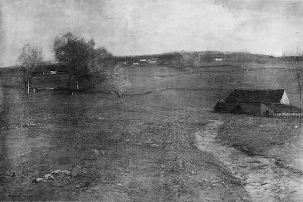 The Old Barn, John Francis Murphy (American, Oswego, New York 1853–1921 New York), Oil on canvas, American