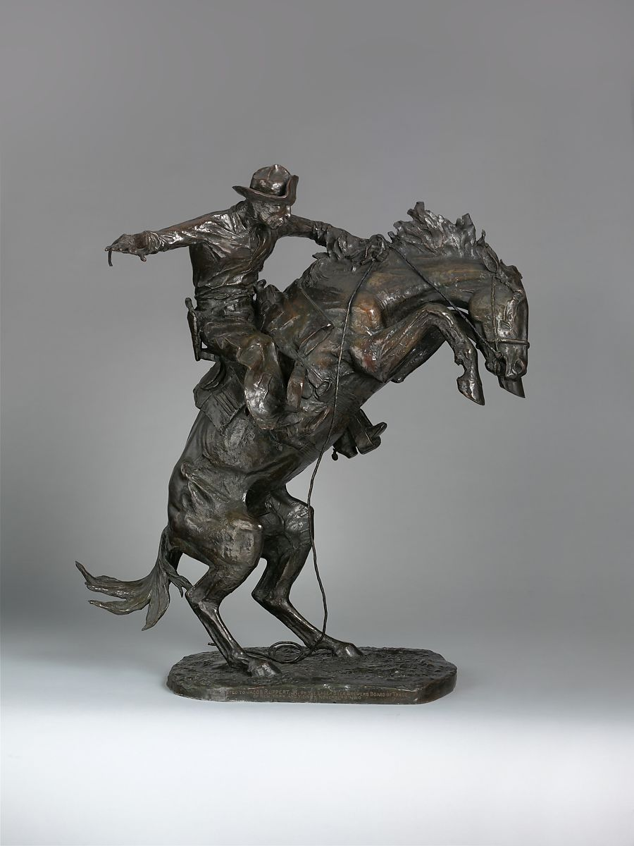 f436ee13bf4 Frederic Remington   The Broncho Buster   American   The Met