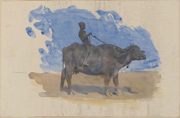 John Singer Sargent Boy On Water Buffalo From Scrapbook American The Metropolitan Museum Of Art