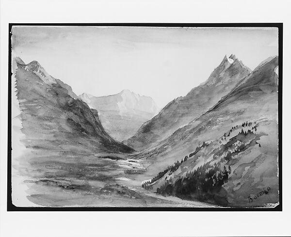 John Singer Sargent Mountain View At Bormio From Switzerland 1869