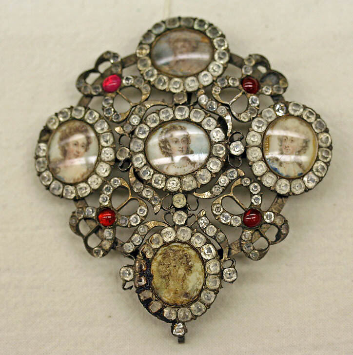 Metal and glass brooch, early 18th century