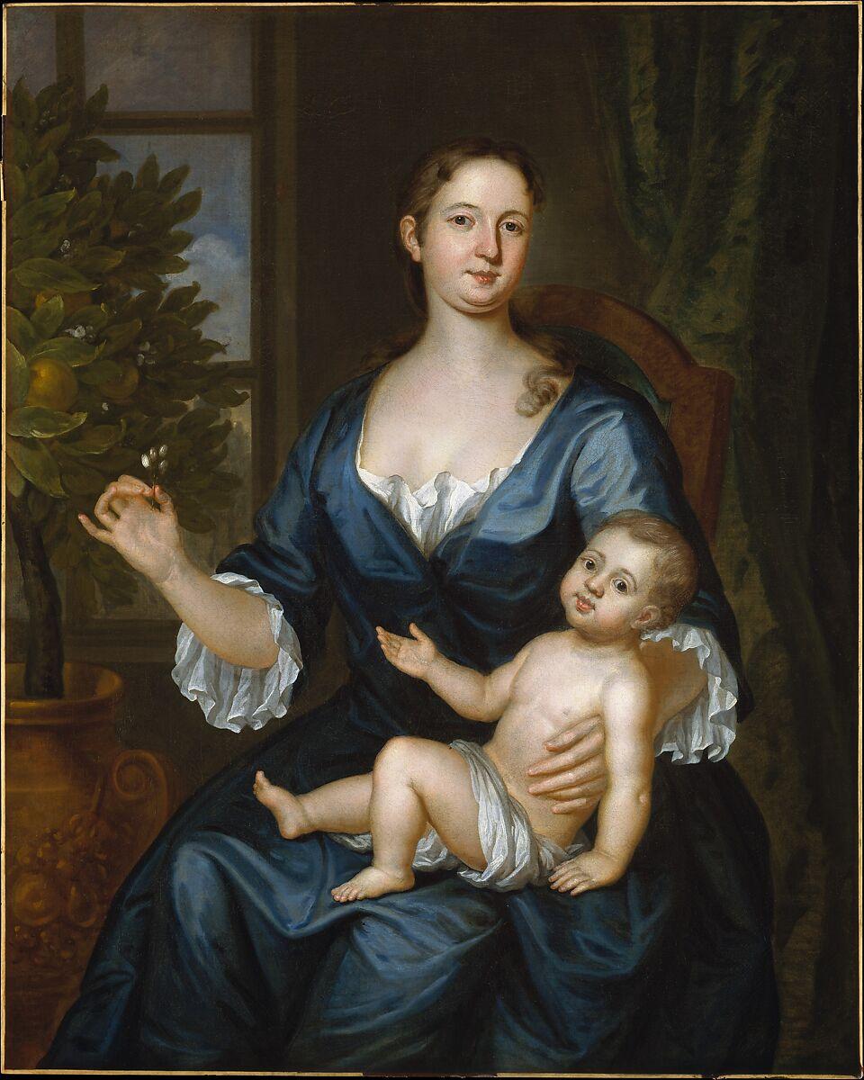 John Smibert   Mrs. Francis Brinley and Her Son Francis   American   The Met