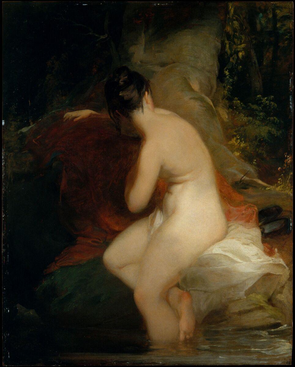 Musidora, Thomas Sully (American, Horncastle, Lincolnshire 1783–1872 Philadelphia, Pennsylvania), Oil on wood, American