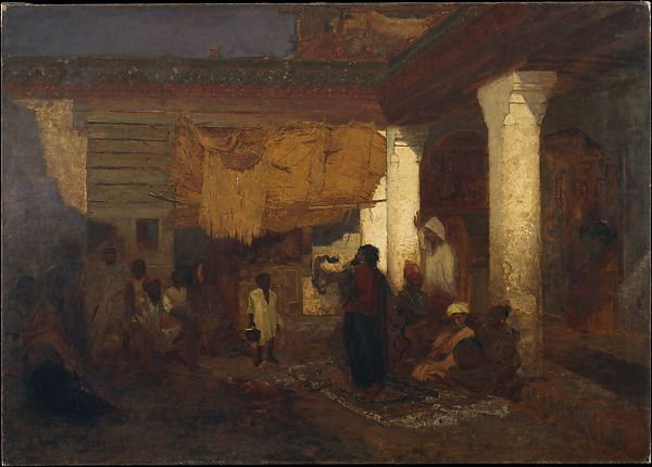 Snake Charmer at Tangier, Africa, Louis Comfort Tiffany (American, New York 1848–1933 New York), Oil on canvas, American