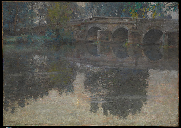 The Bridge at Grez, Robert W. Vonnoh (American, Hartford, Connecticut 1858–1933 Nice), Oil on canvas, American