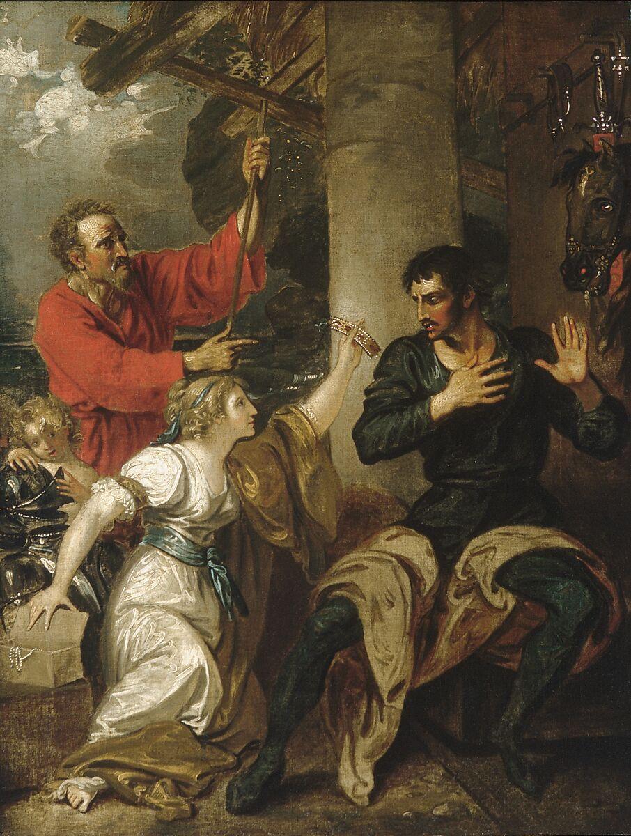 The Damsel and Orlando, Benjamin West (American, Swarthmore, Pennsylvania 1738–1820 London), Oil on canvas, American