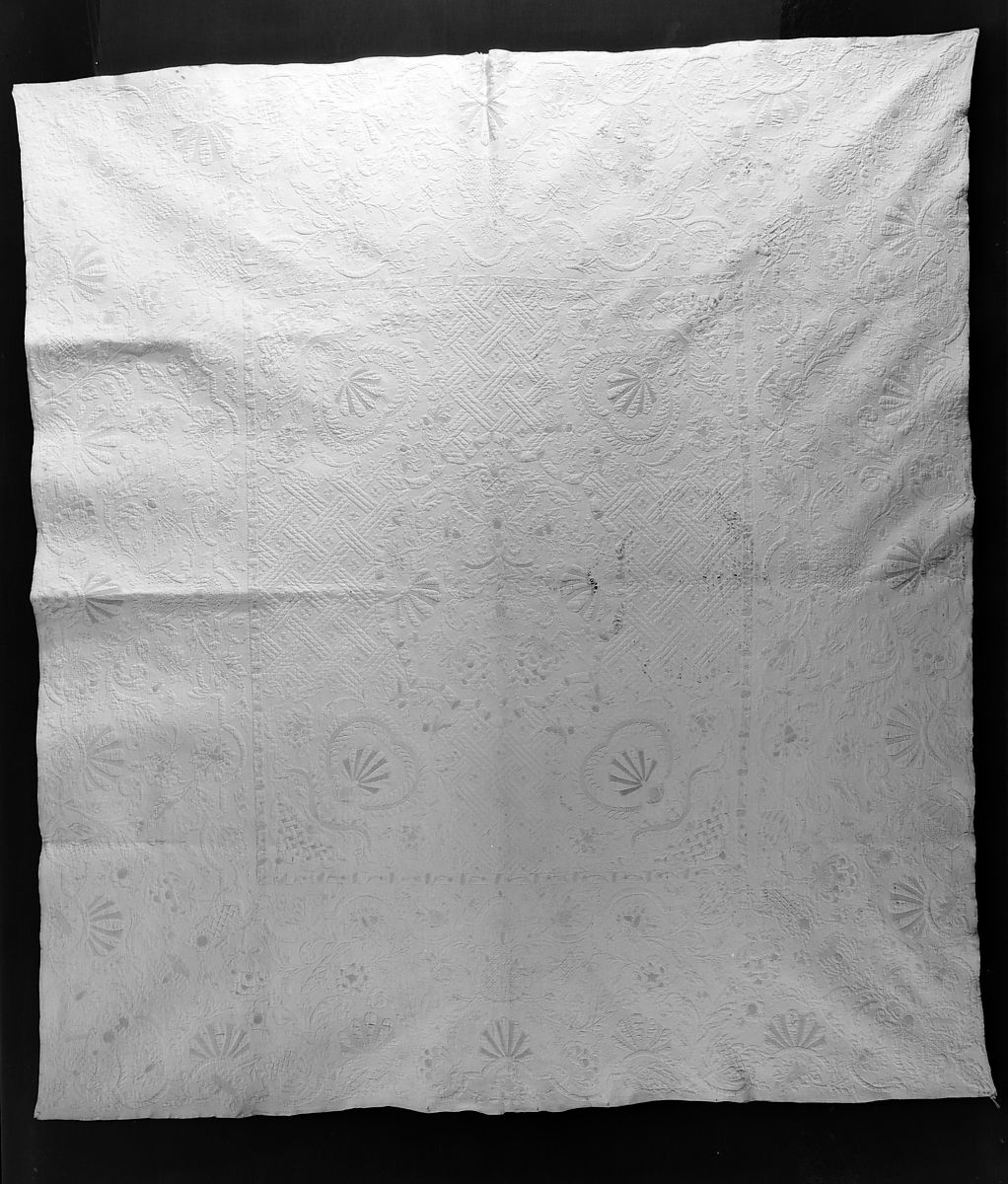 Embroidered And Stuffed Whitework Quilt British The Met
