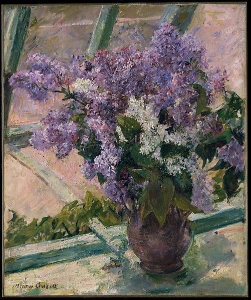 Mary Cassatt Lilacs In A Window Vase De Lilas A La Fenetre