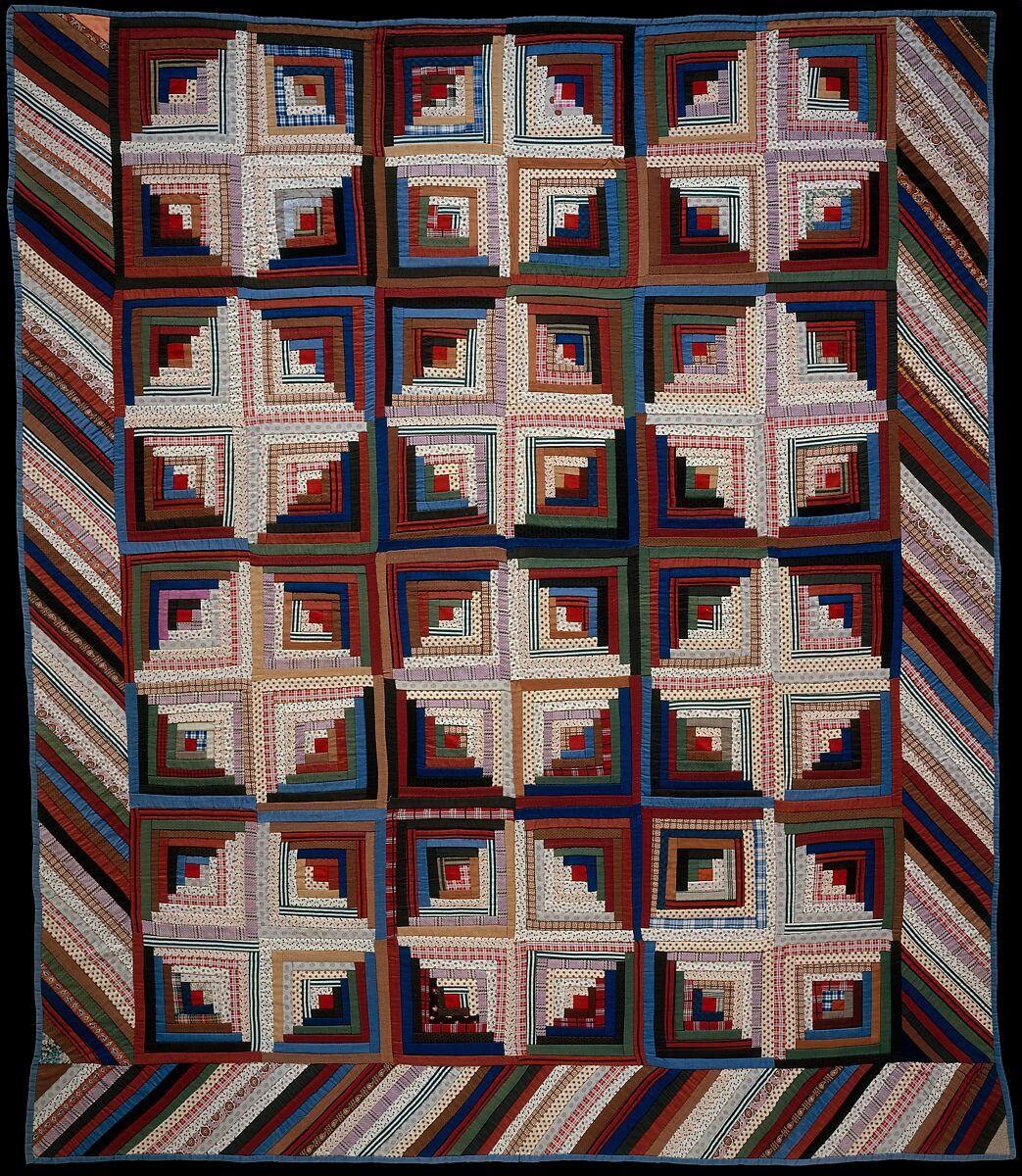 Quilt Log Cabin Pattern Light And Dark Variation American The Metropolitan Museum Of Art