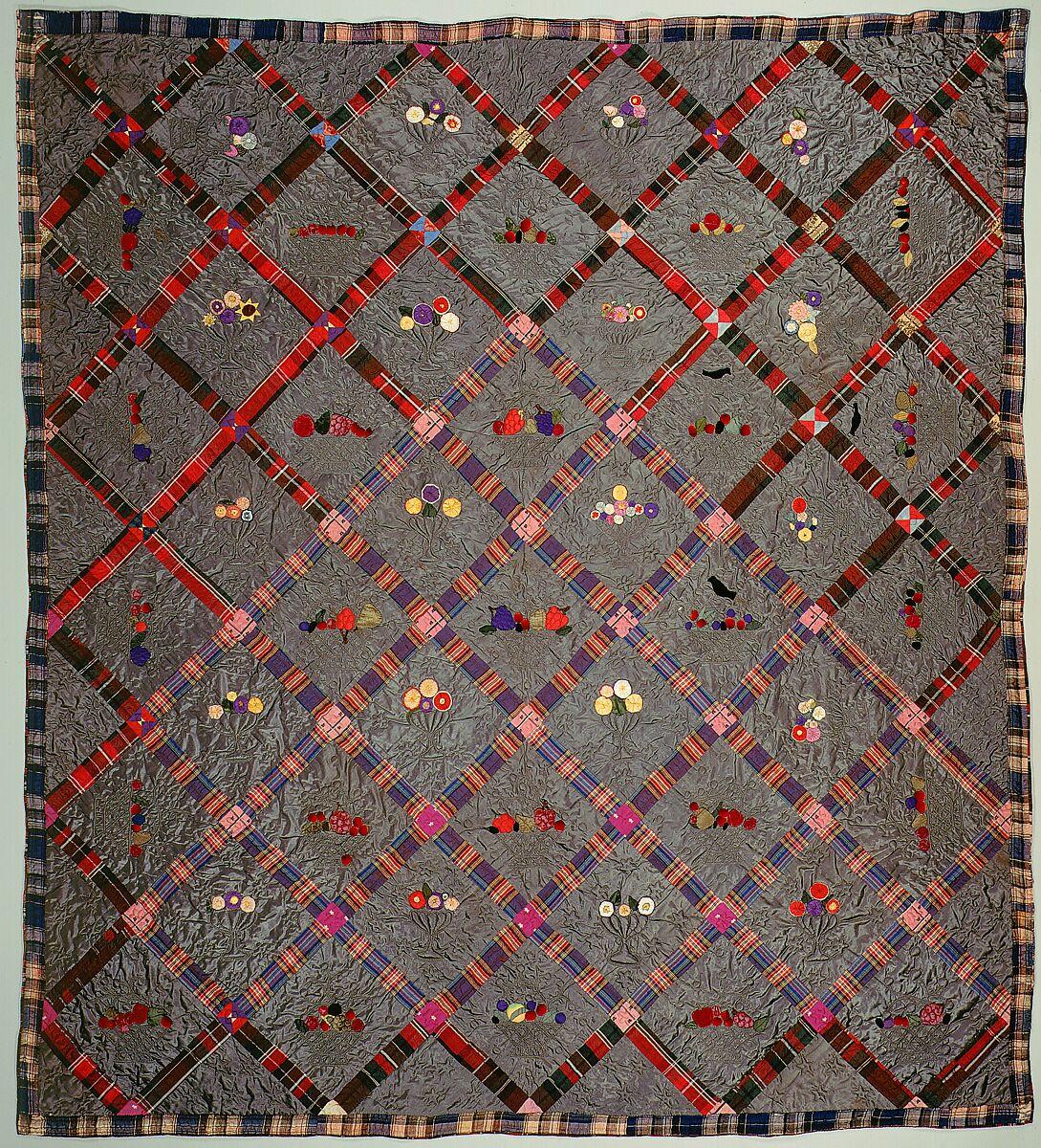Quilt, Fruit Baskets pattern | American | The Met