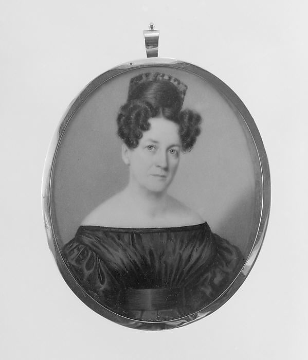 Portrait of a Lady, John Wood Dodge (1807–1893), Watercolor on ivory, American