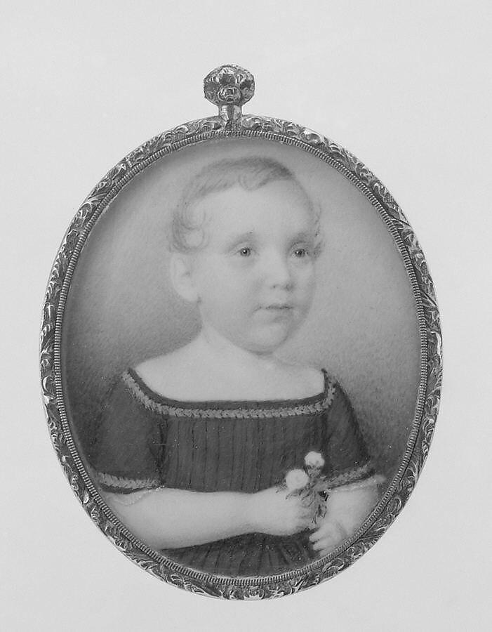 Portrait of a Boy, Eliza Goodridge (1798–1882), Watercolor on ivory, American