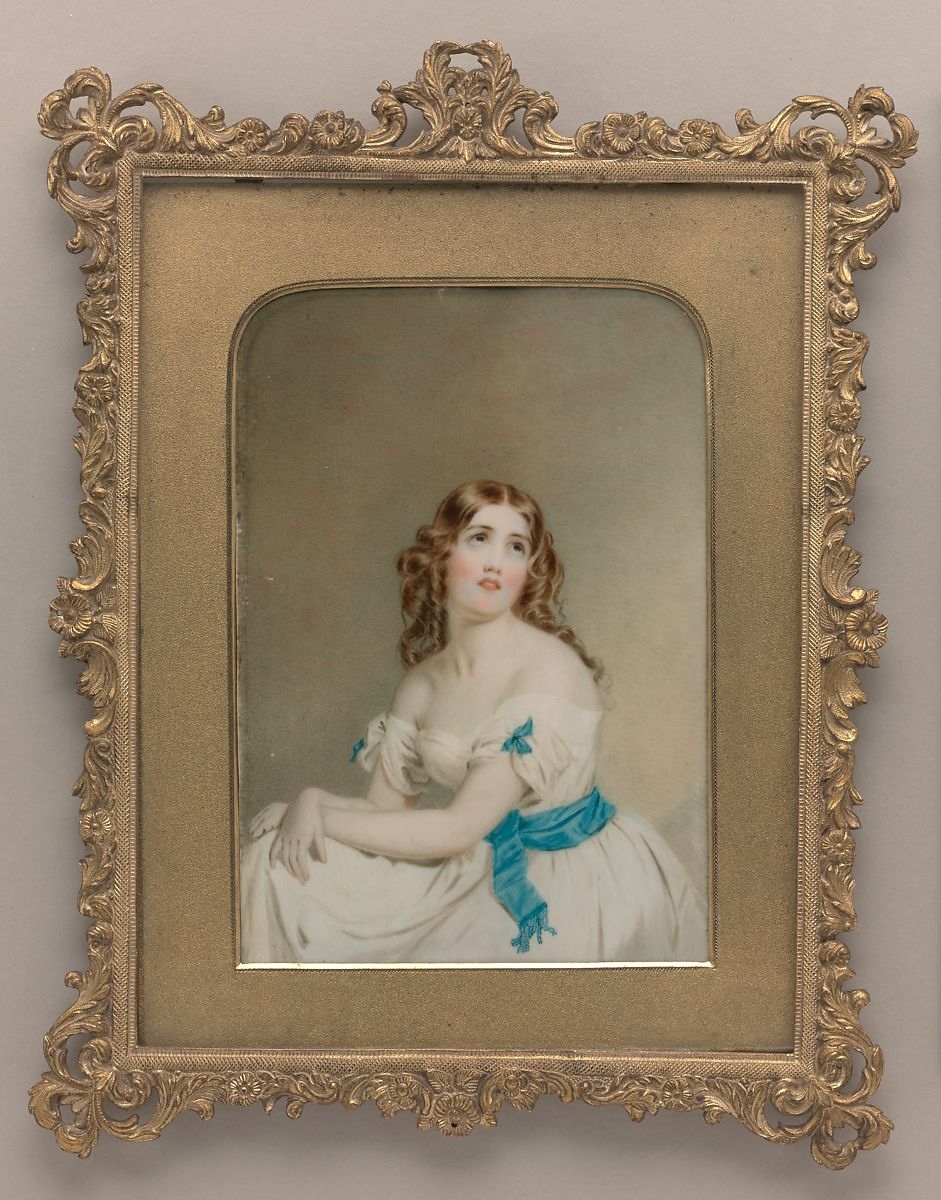 Holy Eyes, Thomas Story Officer (1810–1859), Watercolor on ivory, American