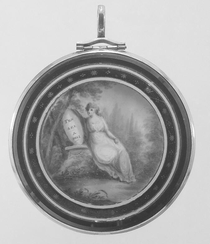 Memorial, Watercolor on ivory, American