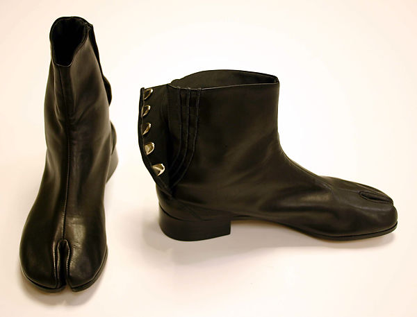 Boots, Maison Martin Margiela (founded 1988), leather, metal, French