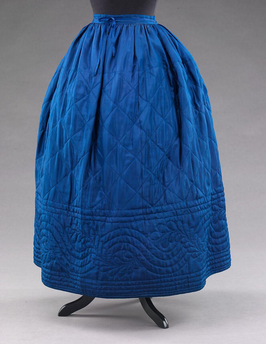 Petticoat, silk, cotton, American