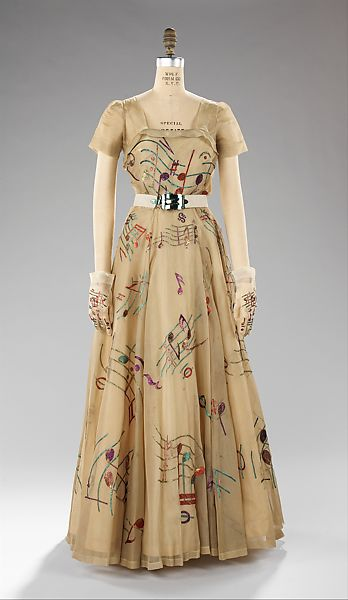 Elsa Schiaparelli Evening Dress French The Met
