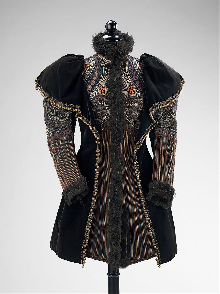 Evening jacket, Emile Pingat (French, active 1860–96), silk, jet, feathers, metal, French