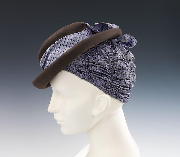Hat. Designer  Elsa Schiaparelli ... e3047118724