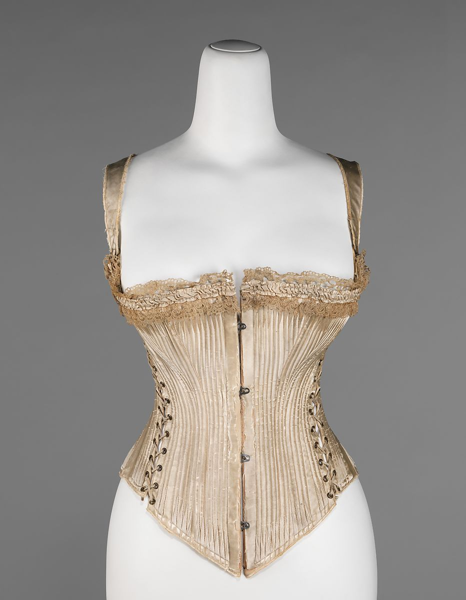 1876 'Queen Bess'  Corset By Worcester Company, American. #Victorian #Corset