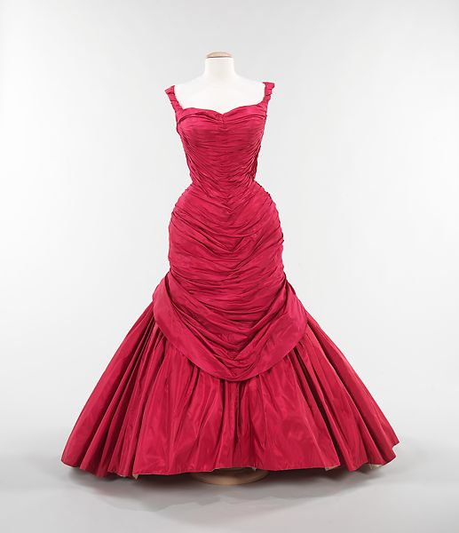 Informative Image of Charles James 1955 Red Gown