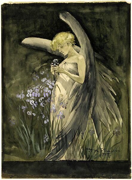 Fairy in Irises