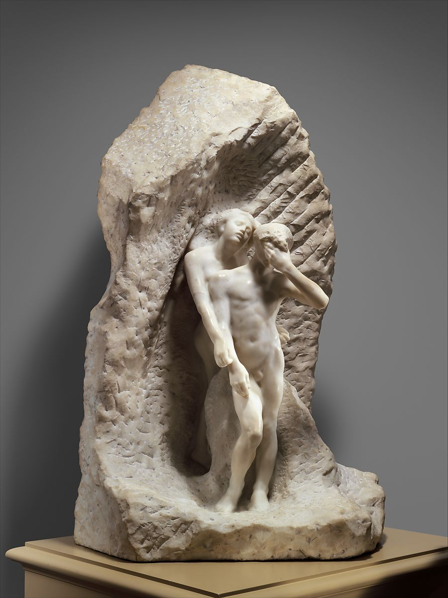 Orpheus and Eurydice, Auguste Rodin (French, Paris 1840–1917 Meudon), Marble, French, Paris
