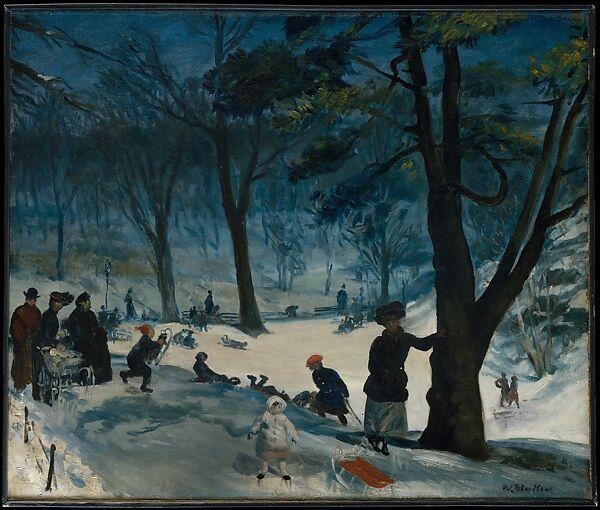 Central Park, Winter, William James Glackens (American, Philadelphia, Pennsylvania 1870–1938 Westport, Connecticut), Oil on canvas, American