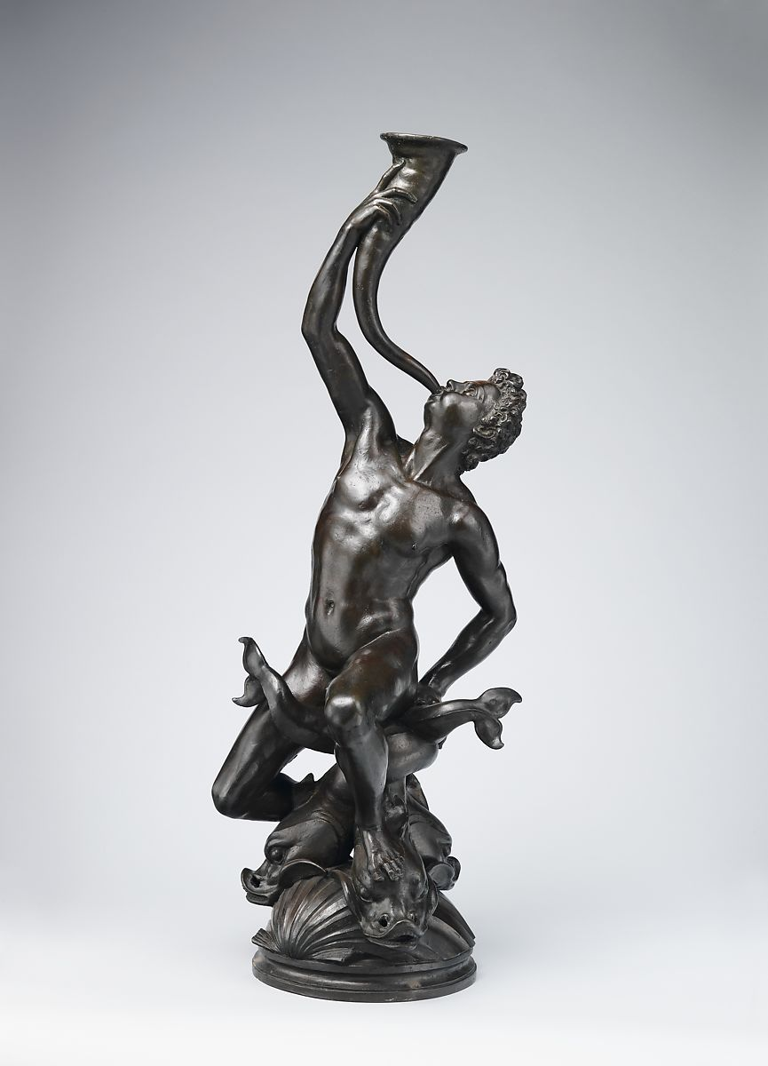 Triton, Giambologna (Netherlandish, Douai 1529–1608 Florence), Bronze, Italian, Florence
