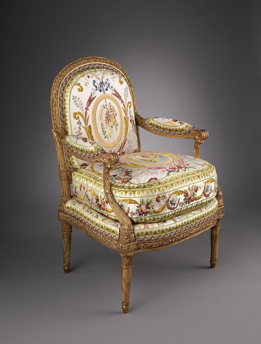 Jacques Gondouin | Armchair (fauteuil à la reine) | French, Paris | The Met
