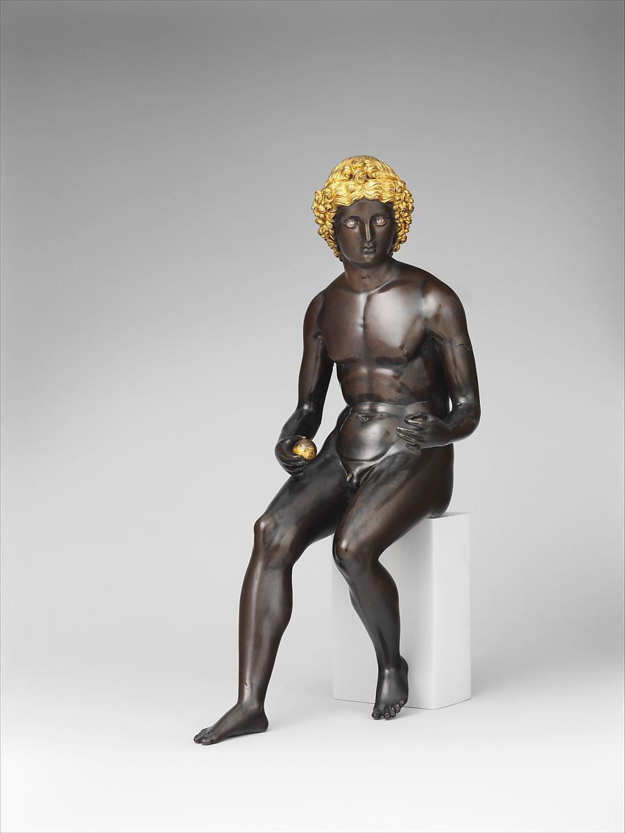 Paris, Antico (Pier Jacopo Alari Bonacolsi) (Italian, Mantua ca. 1460–1528 Gazzuolo), Bronze, partially gilt and silvered, Italian, Mantua