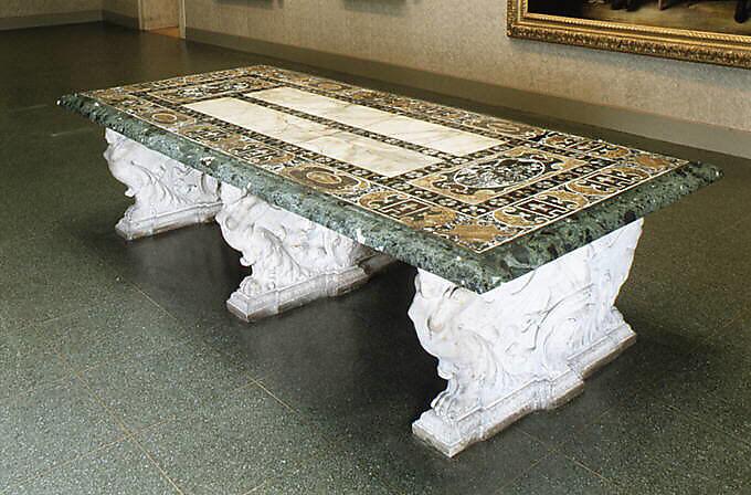 Designed By Jacopo Giacomo Barozzi Da Vignola The Farnese Table Italian Rome The Metropolitan Museum Of Art