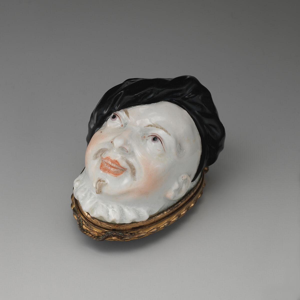 Chelsea Porcelain Manufactory | Man's head | British, Chelsea | The Met