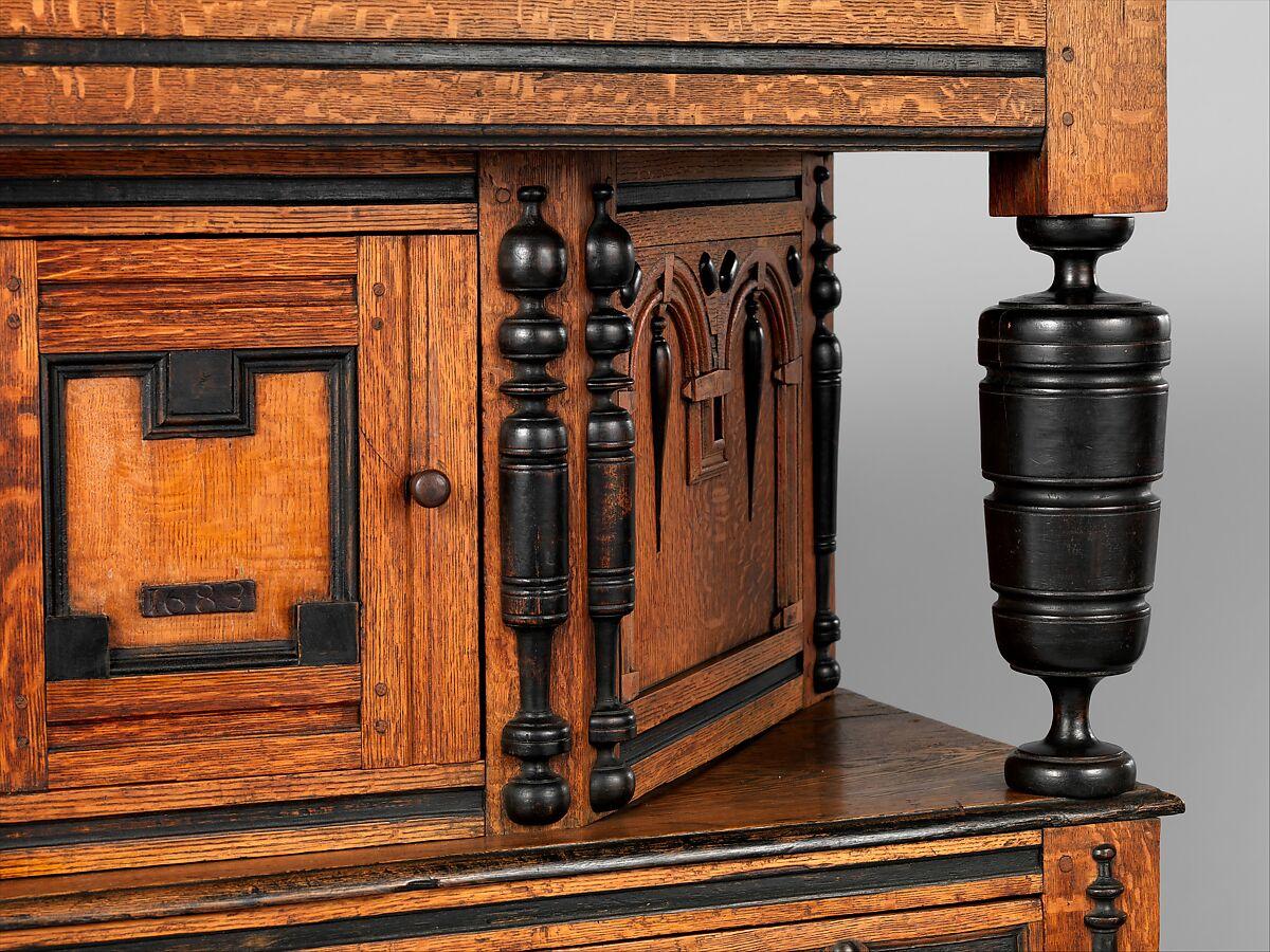 Cupboard, Oak, maple, yellow poplar, with oak and pine, American