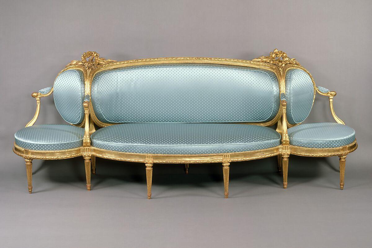 Sofa Canapé à Confidents Claude I Sené French 1724 1792