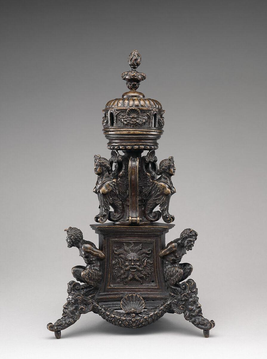 Incensario italiano, probablemente de Padua, fechada hacia 1530–1540. Imagen: Metropolitan Museum of Art.