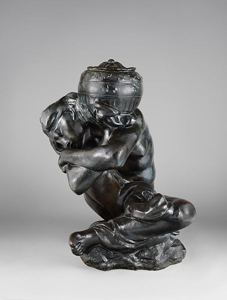 auguste rodin fallen caryatid carrying an urn french the met