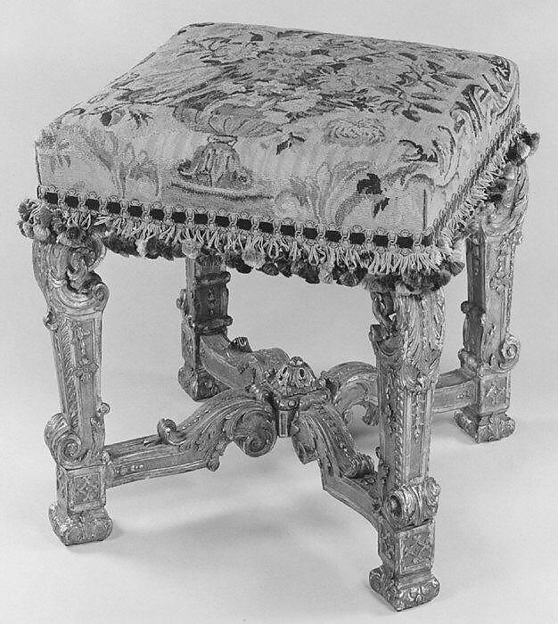 Marvelous Four Legged Stool French The Met Ibusinesslaw Wood Chair Design Ideas Ibusinesslaworg