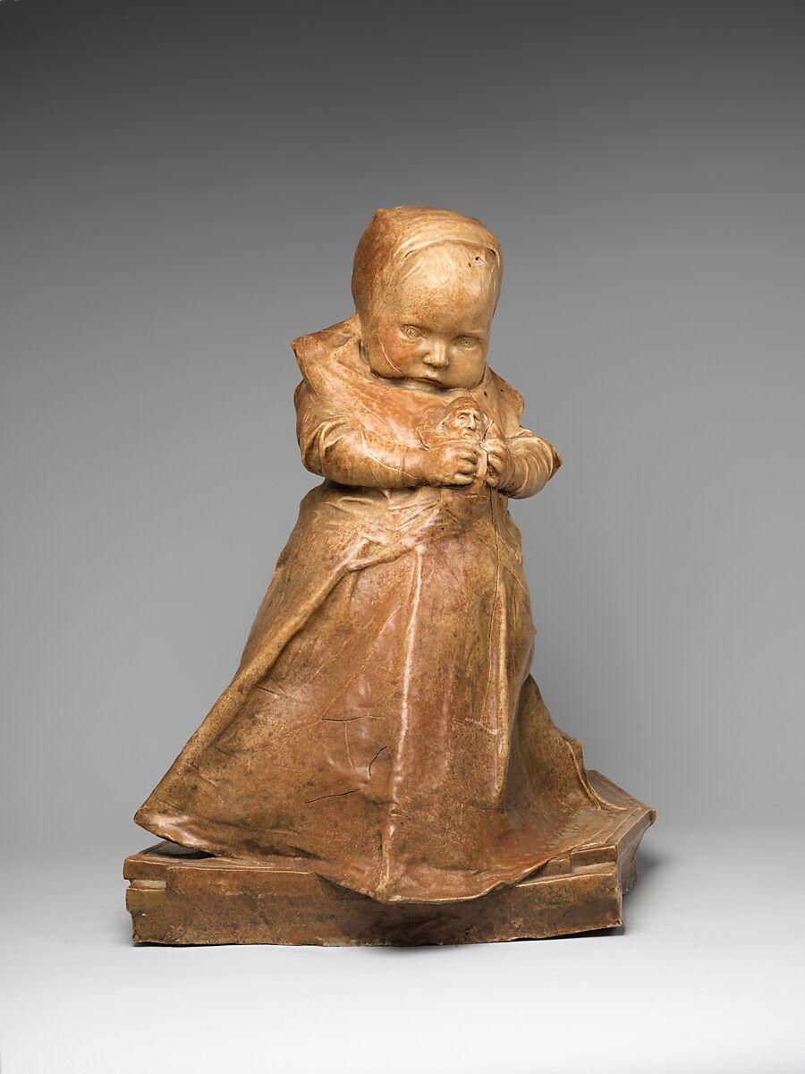 The Infanta, Jean-Joseph Carriès (French, Lyons 1855–1894 Paris), Glazed stoneware, French, Saint-Amand-en-Puisaye